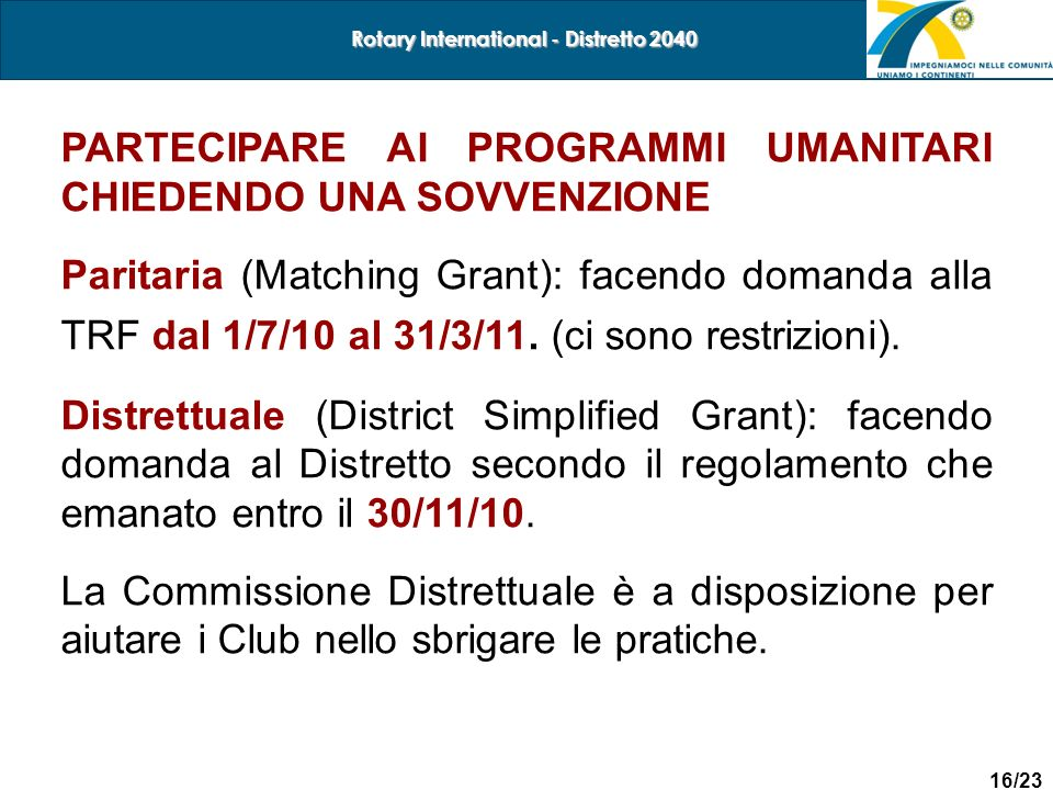 Rotary International - Distretto 2040