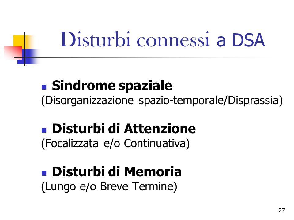 Disturbi connessi a DSA