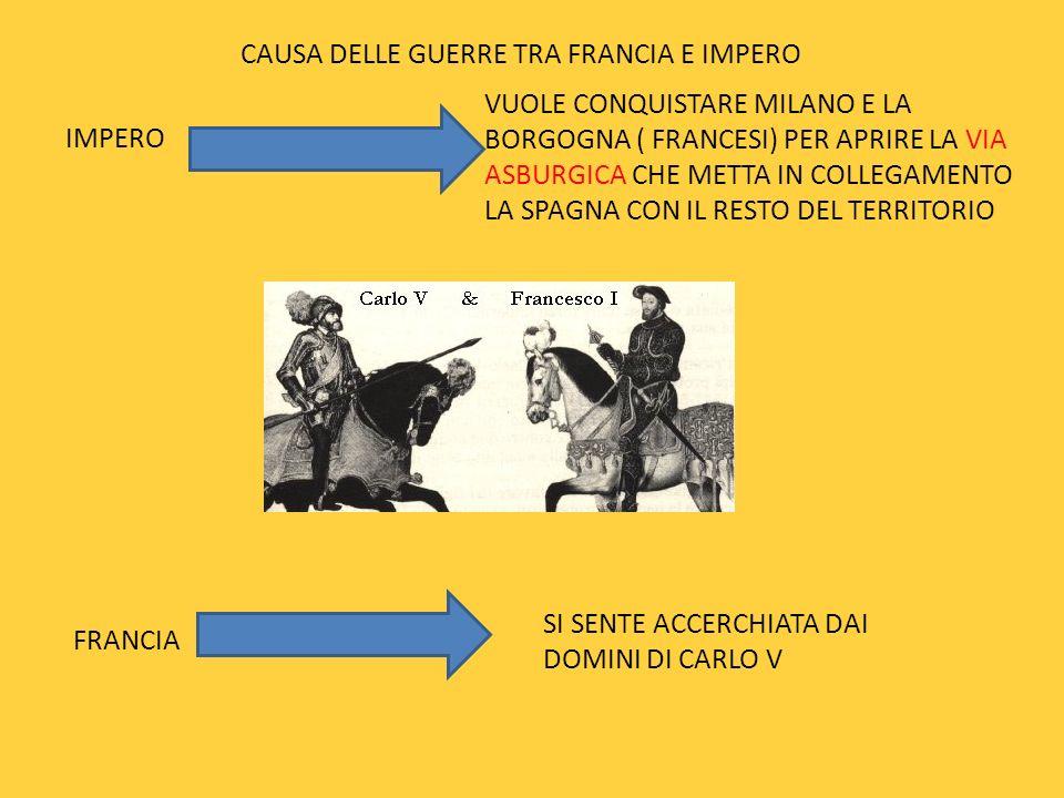 CAUSA DELLE GUERRE TRA FRANCIA E IMPERO