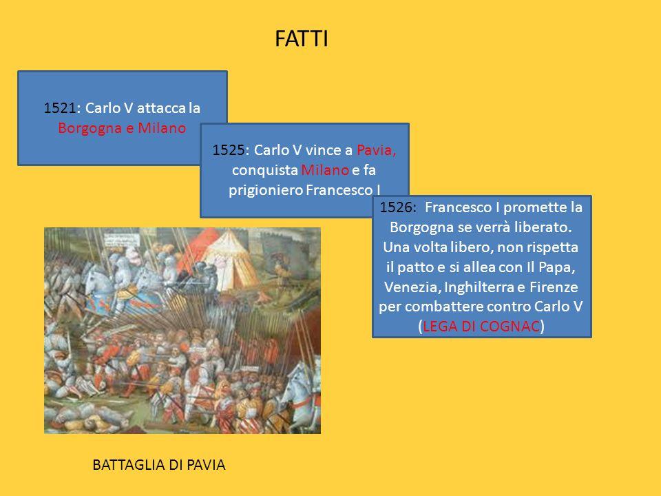1521: Carlo V attacca la Borgogna e Milano