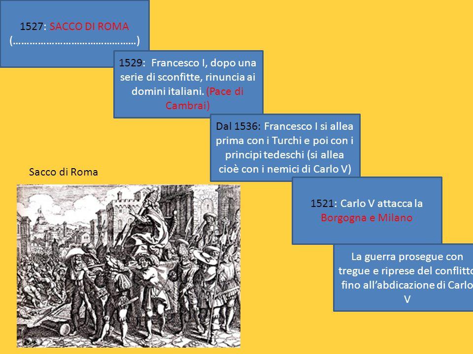 1527: SACCO DI ROMA (………………………………………)