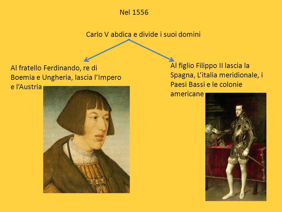 Carlo V abdica e divide i suoi domini