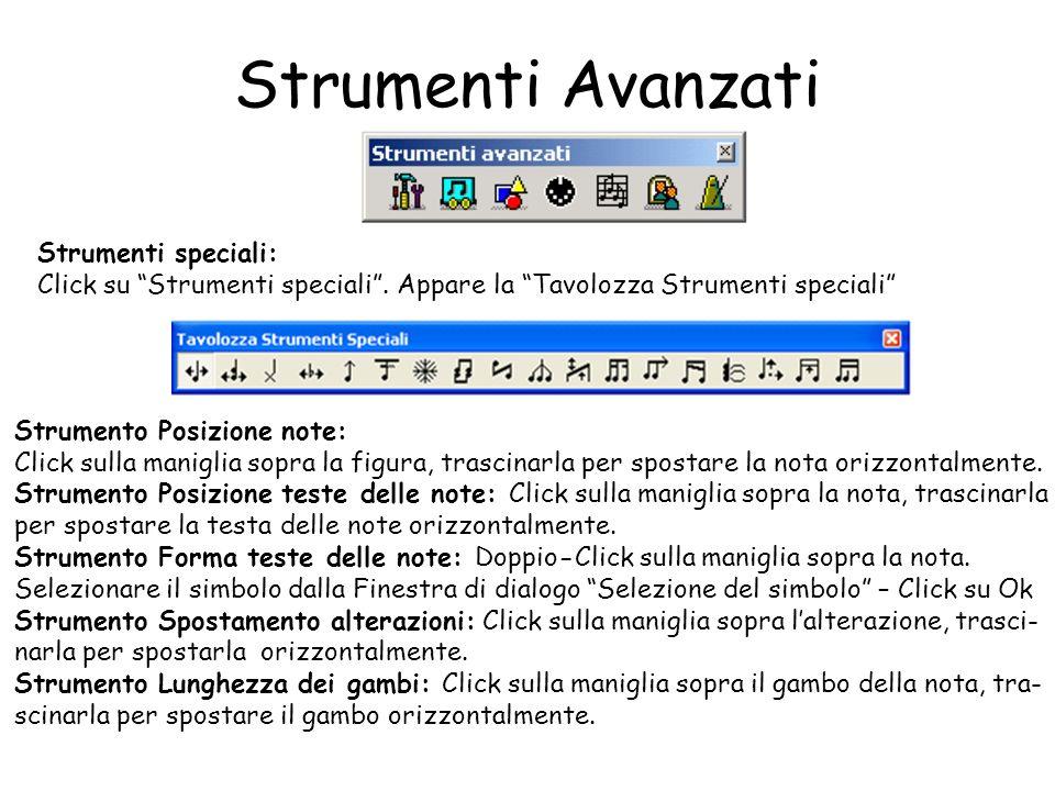 Strumenti Avanzati Strumenti speciali: