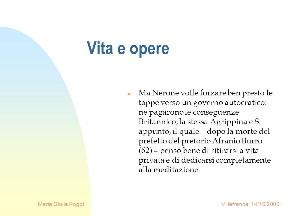 Maria Giulia Poggi Villafranca, 14/10/2000