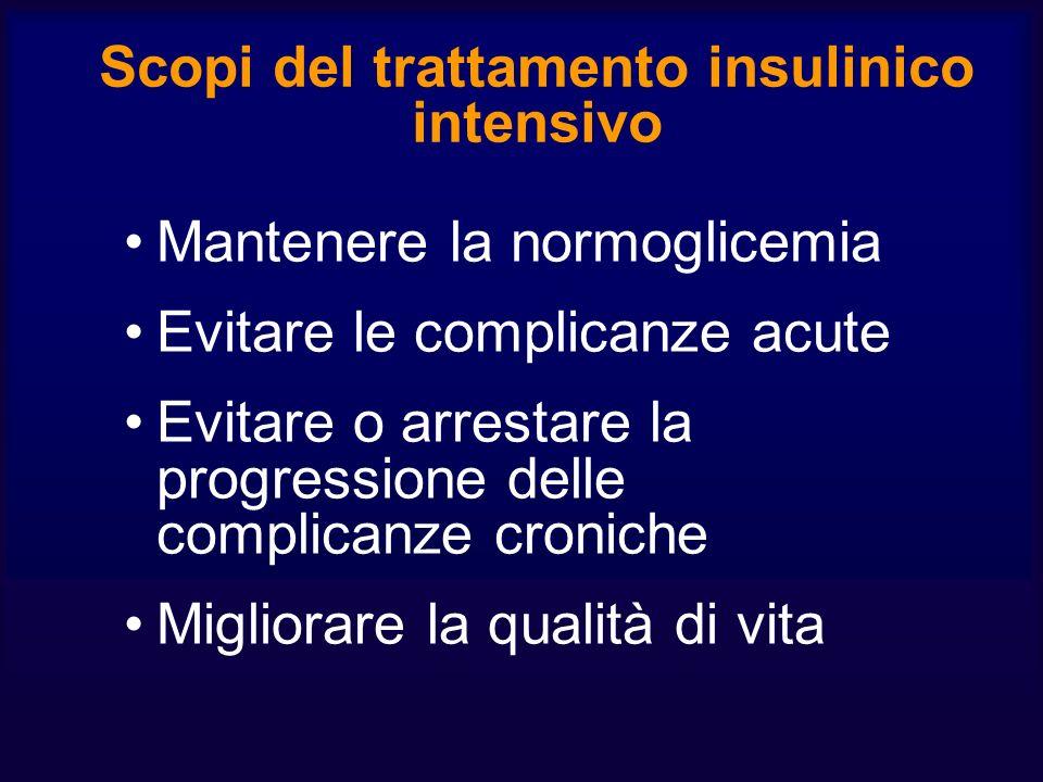 Scopi del trattamento insulinico intensivo