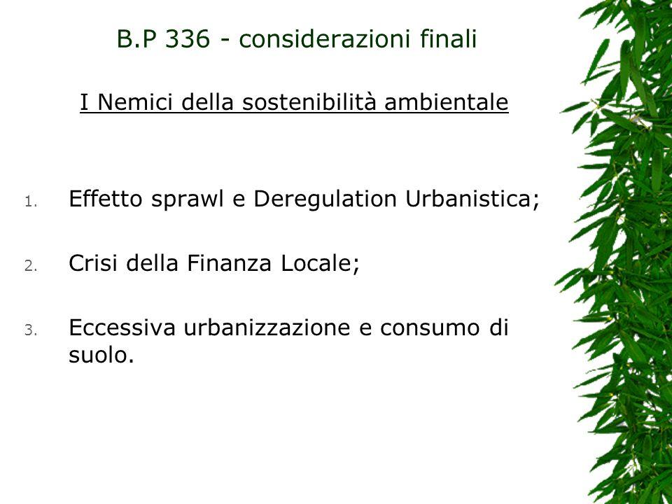 B.P 336 - considerazioni finali