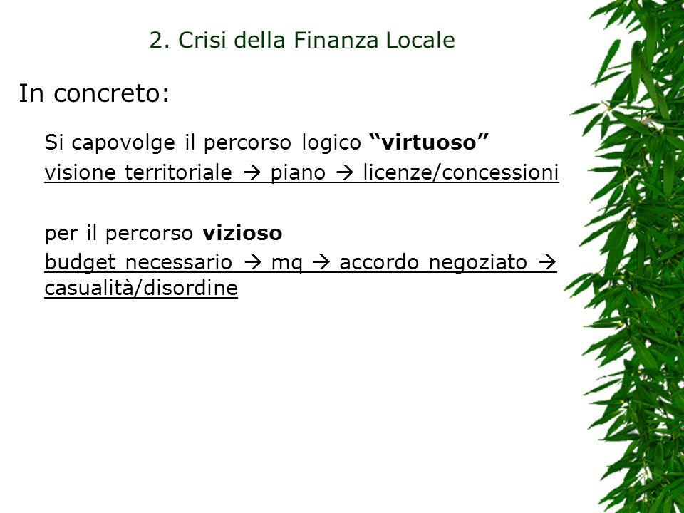 2. Crisi della Finanza Locale