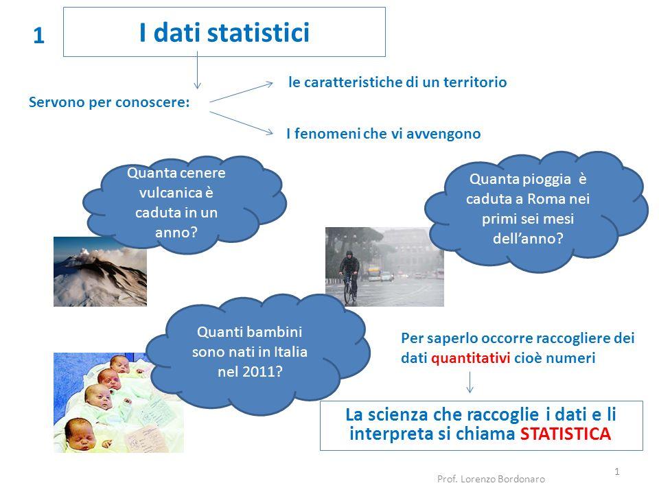 La scienza che raccoglie i dati e li interpreta si chiama STATISTICA