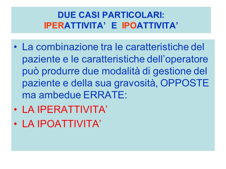 DUE CASI PARTICOLARI: IPERATTIVITA' E IPOATTIVITA'