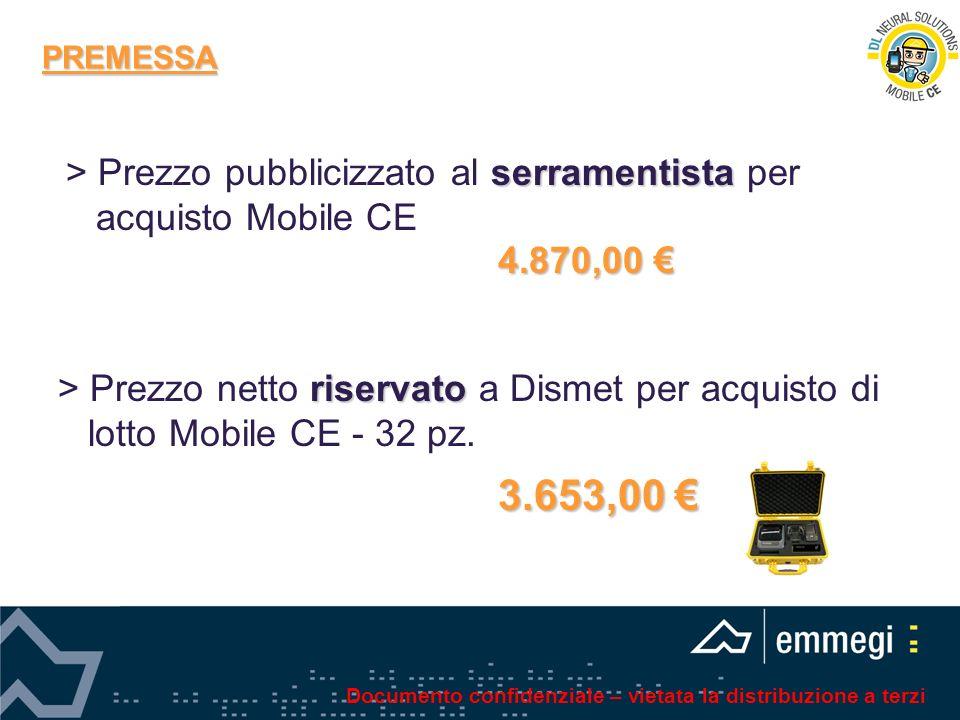PREMESSA > Prezzo pubblicizzato al serramentista per acquisto Mobile CE. 4.870,00 €
