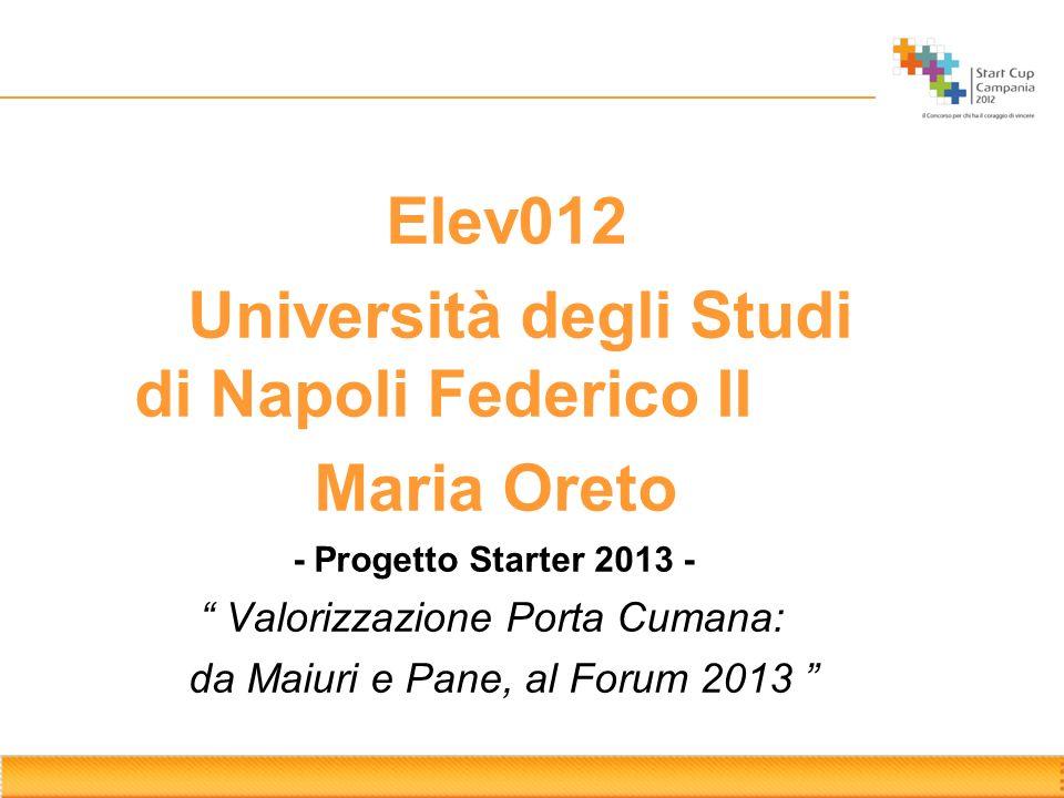 Università degli Studi di Napoli Federico II Maria Oreto