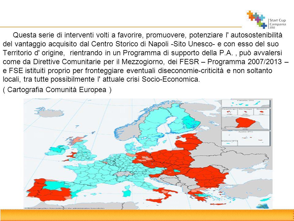 Questa serie di interventi volti a favorire, promuovere, potenziare l autosostenibilità del vantaggio acquisito dal Centro Storico di Napoli -Sito Unesco- e con esso del suo Territorio d origine, rientrando in un Programma di supporto della P.A.