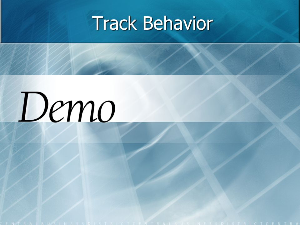 Track Behavior 17