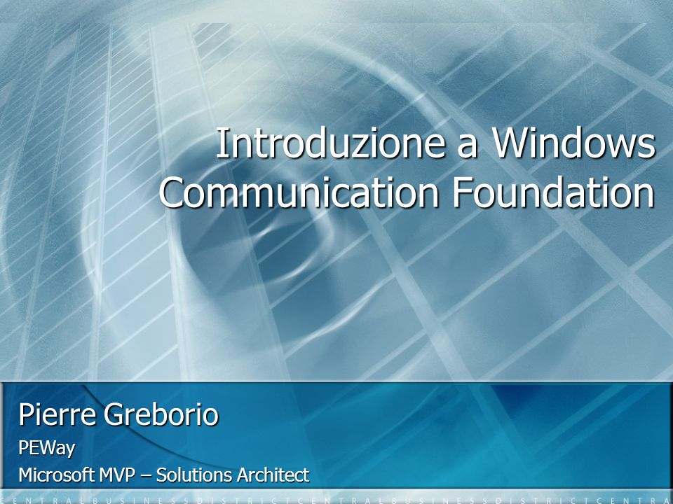 Introduzione a Windows Communication Foundation