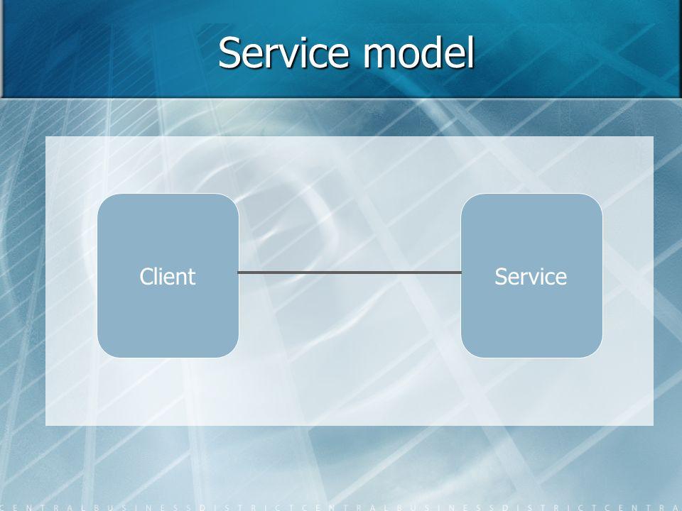 Service model Client Service