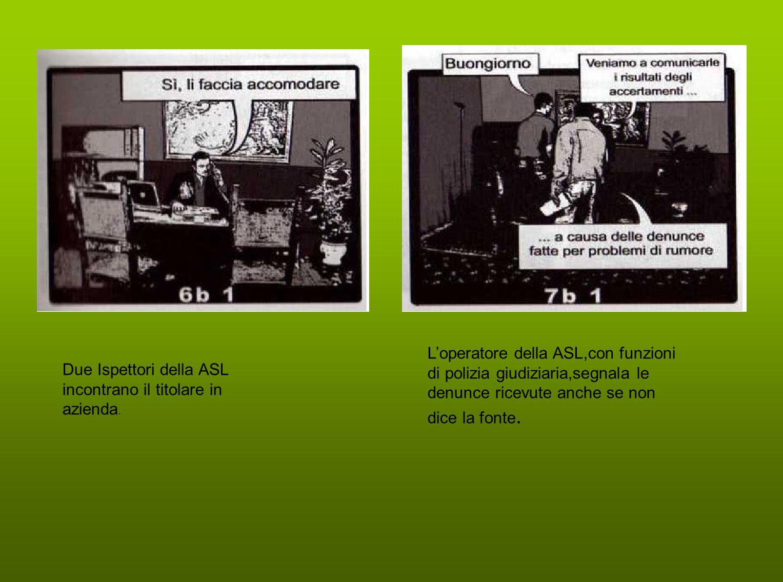L'operatore della ASL,con funzioni di polizia giudiziaria,segnala le denunce ricevute anche se non dice la fonte.