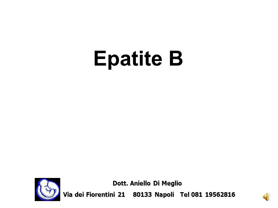 Epatite B Dott. Aniello Di Meglio