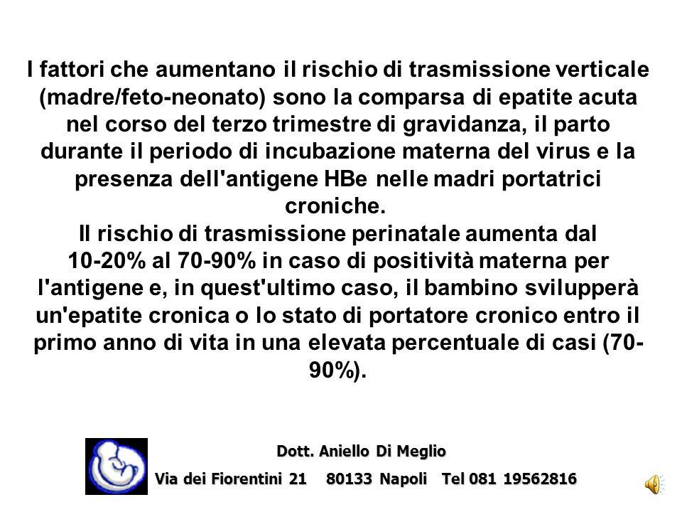 Il rischio di trasmissione perinatale aumenta dal