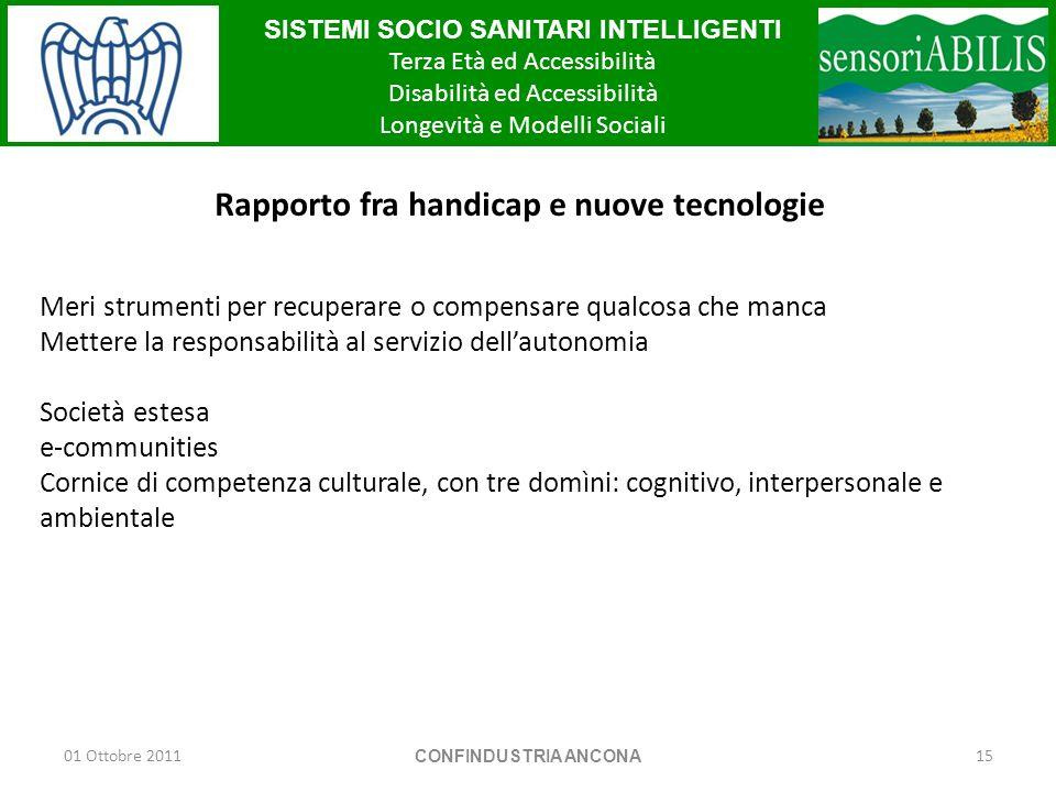 Rapporto fra handicap e nuove tecnologie