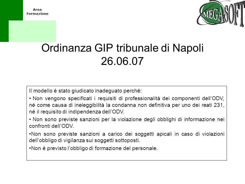 Ordinanza GIP tribunale di Napoli 26.06.07