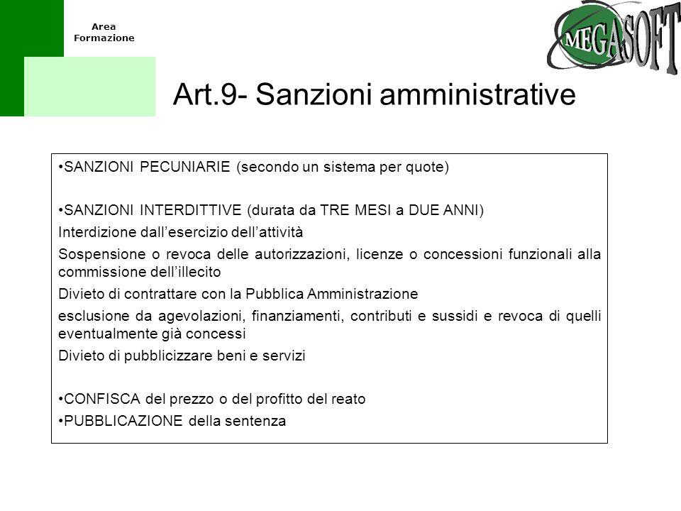 Art.9- Sanzioni amministrative