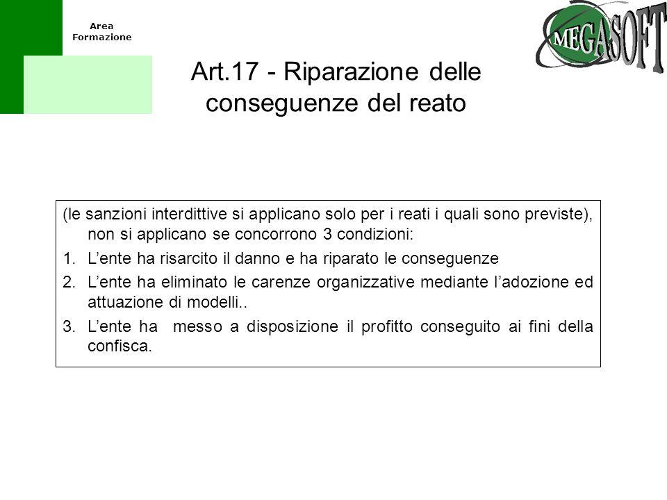 Art.17 - Riparazione delle conseguenze del reato