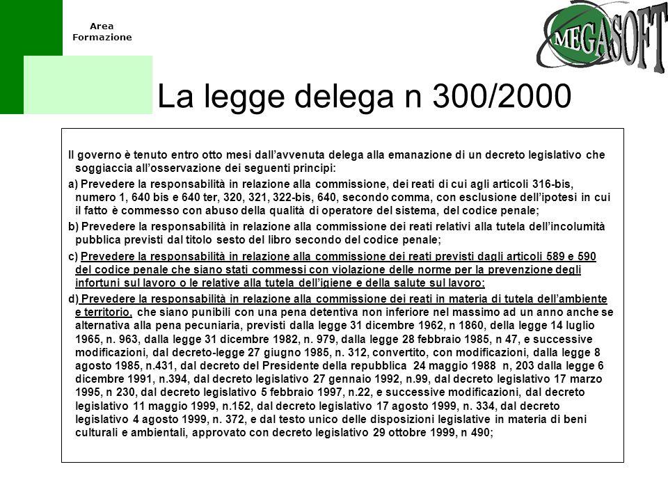 La legge delega n 300/2000