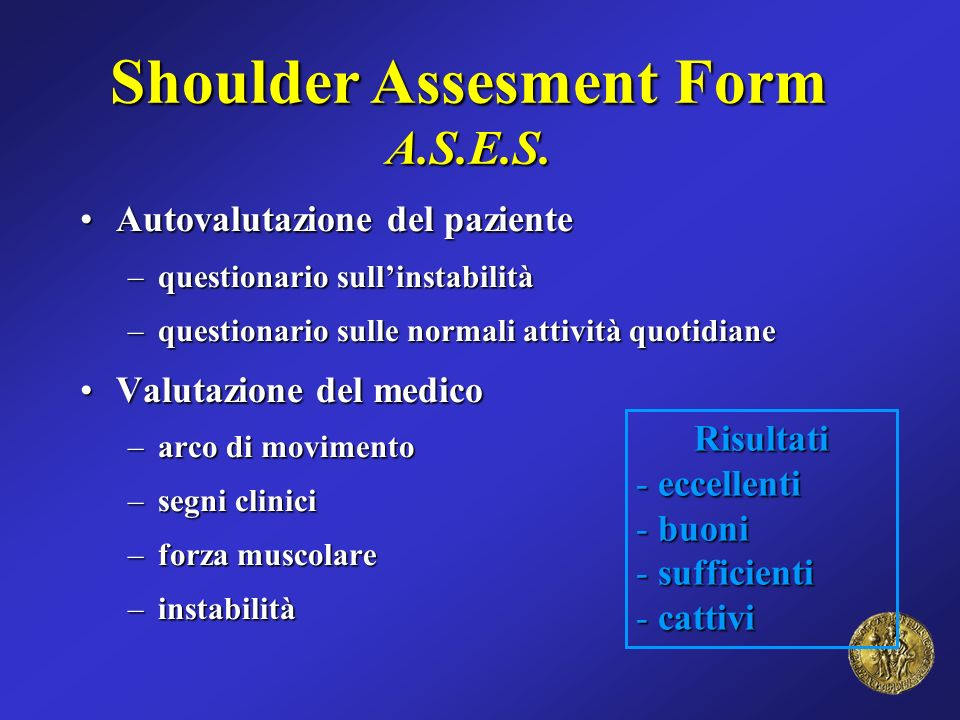 Shoulder Assesment Form A.S.E.S.