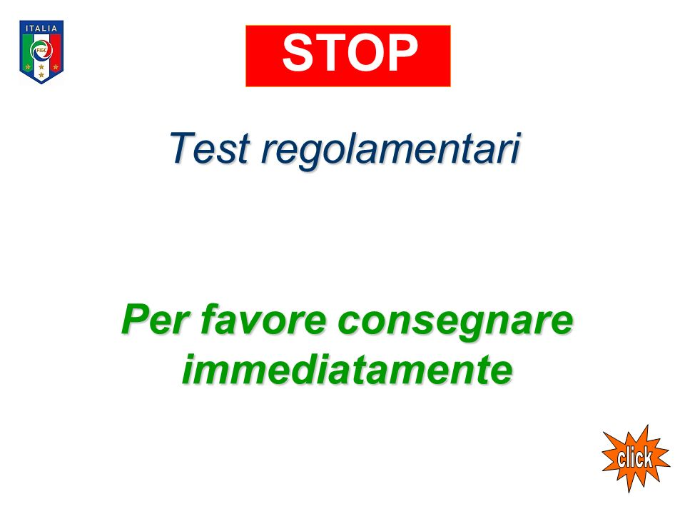 Per favore consegnare immediatamente