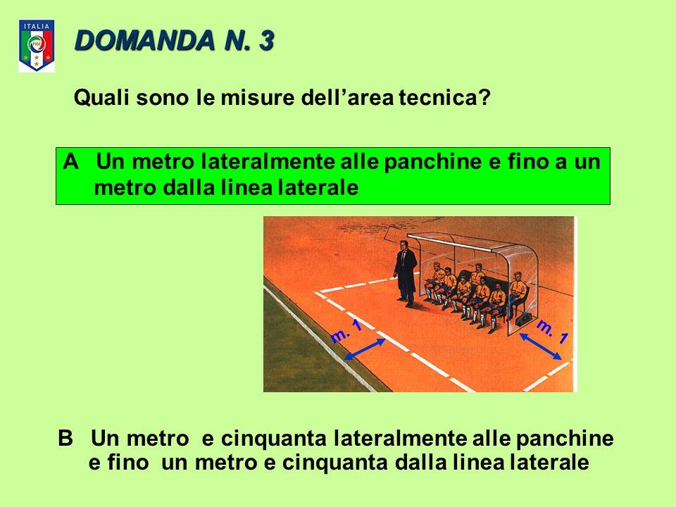 DOMANDA N. 3 Quali sono le misure dell'area tecnica