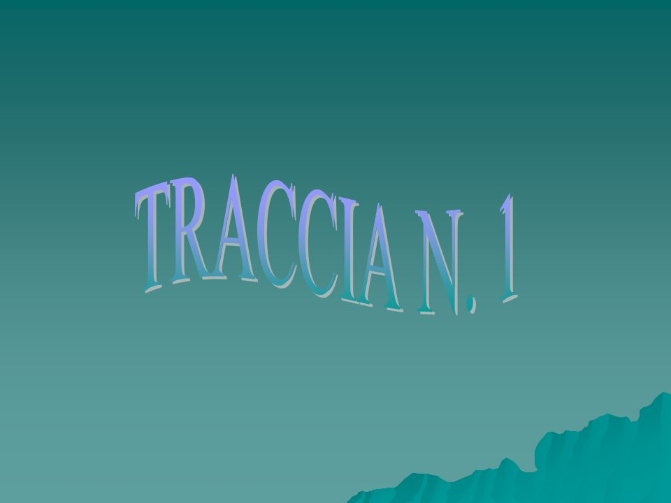 TRACCIA N. 1