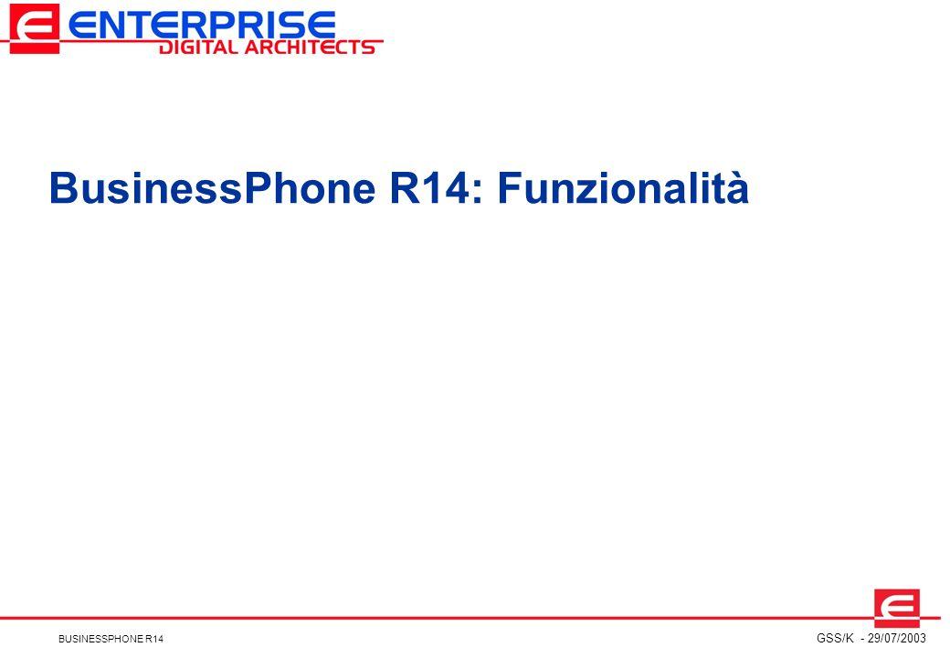 BusinessPhone R14: Funzionalità