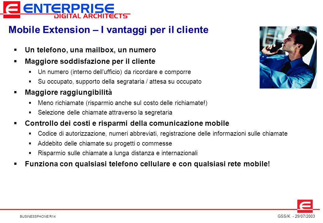 Mobile Extension – I vantaggi per il cliente