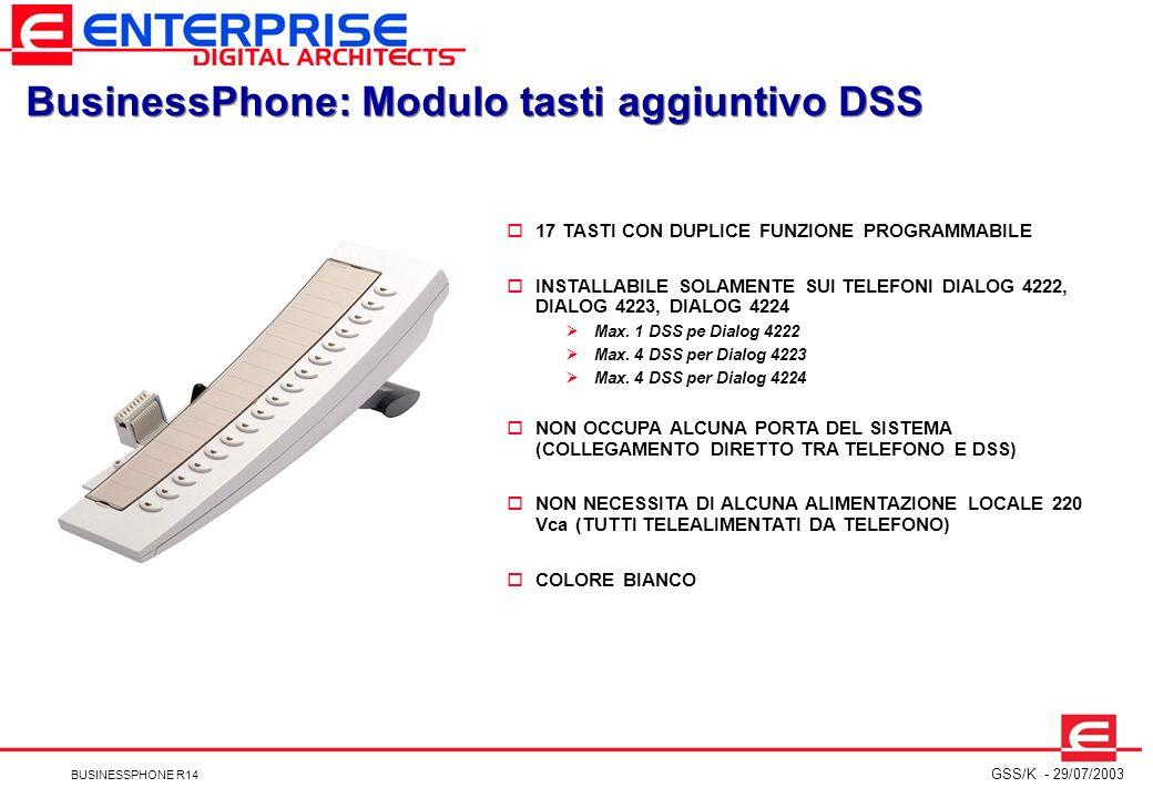 BusinessPhone: Modulo tasti aggiuntivo DSS