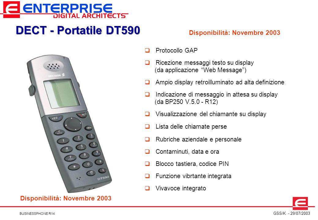 DECT - Portatile DT590 Disponibilità: Novembre 2003