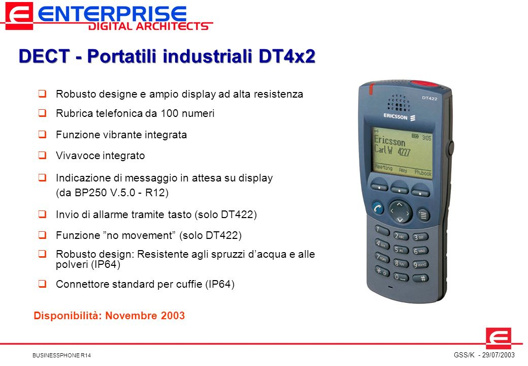 DECT - Portatili industriali DT4x2