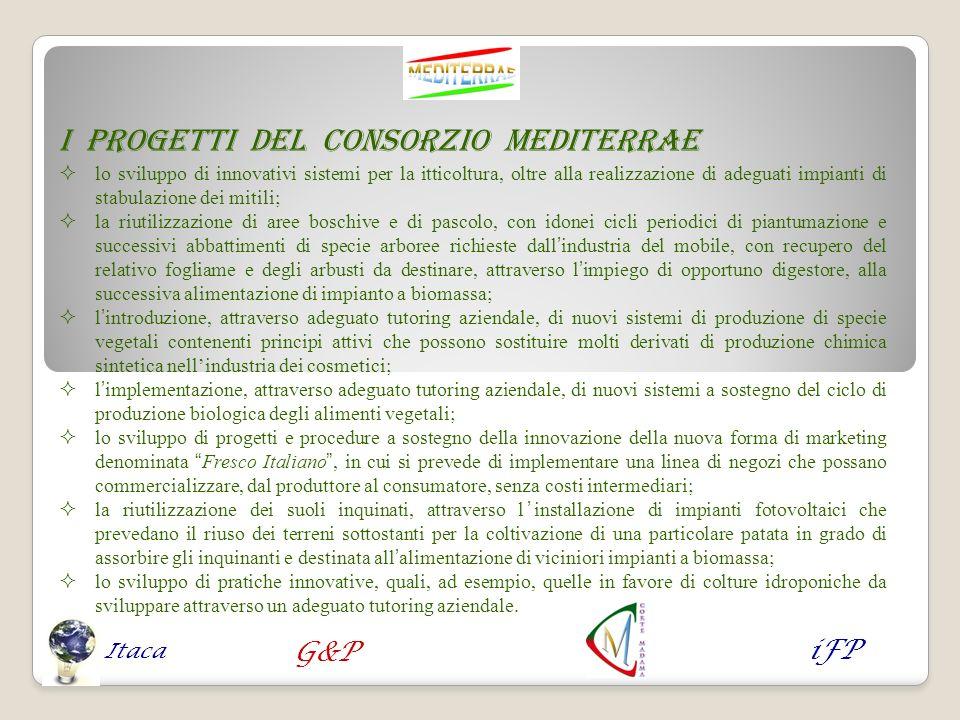 I progetti del Consorzio MEDITERRAE