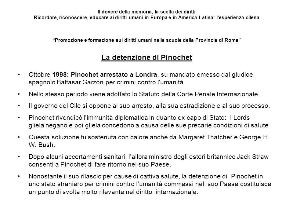 La detenzione di Pinochet