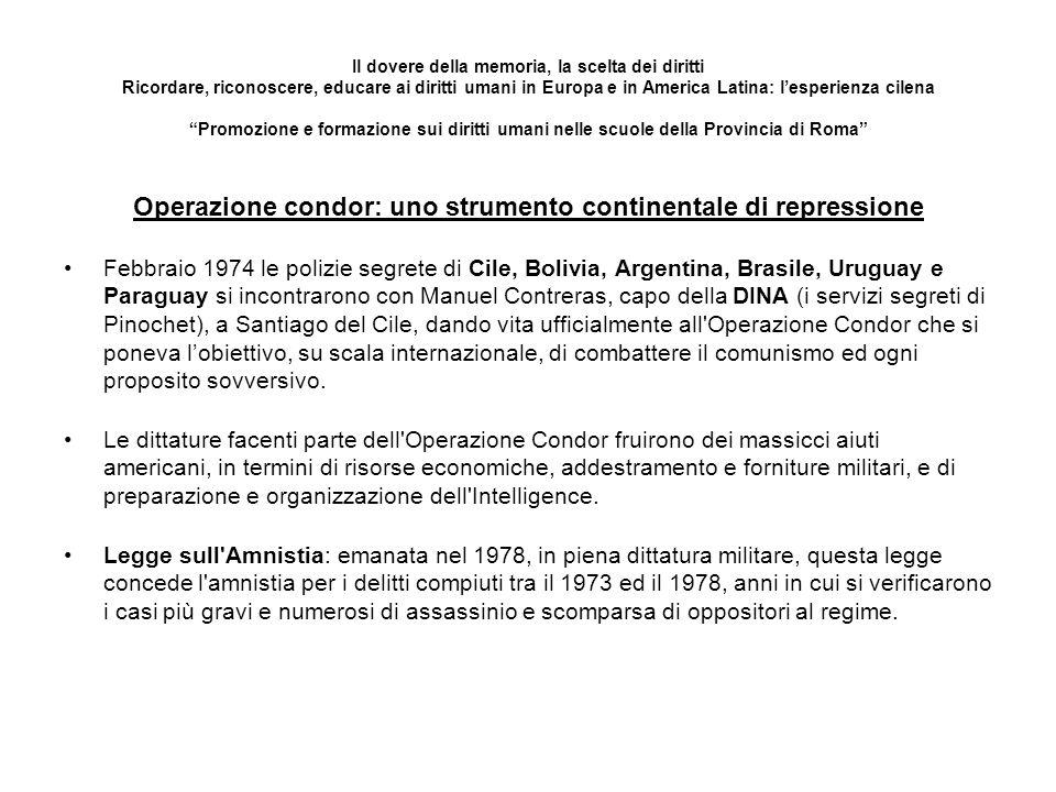 Operazione condor: uno strumento continentale di repressione