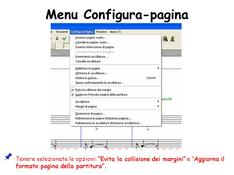 Menu Configura-pagina