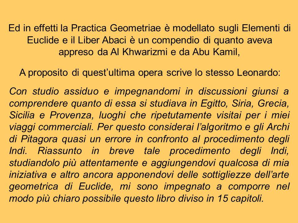 A proposito di quest'ultima opera scrive lo stesso Leonardo: