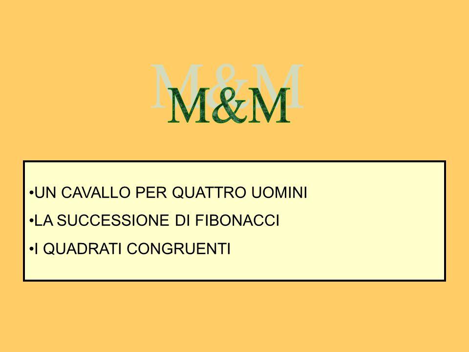 M&M UN CAVALLO PER QUATTRO UOMINI LA SUCCESSIONE DI FIBONACCI