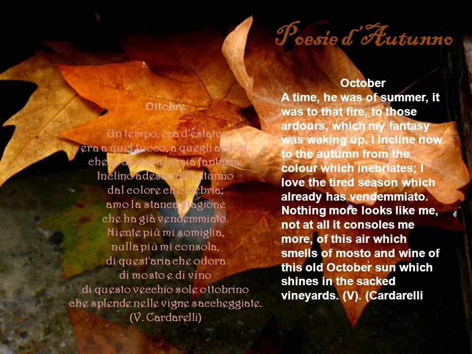 Poesie d'Autunno October