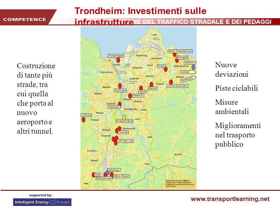 Trondheim: Investimenti sulle infrastrutture