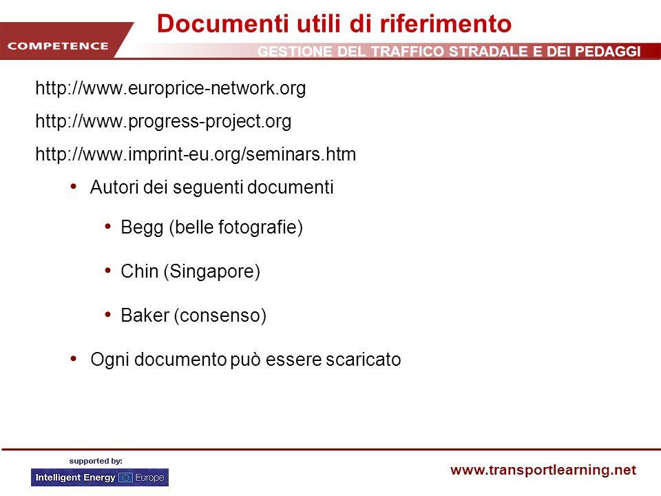 Documenti utili di riferimento