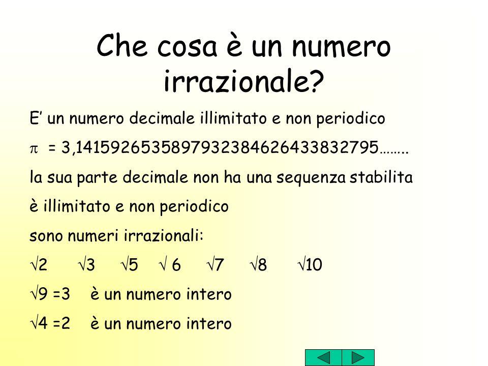 Che cosa è un numero irrazionale