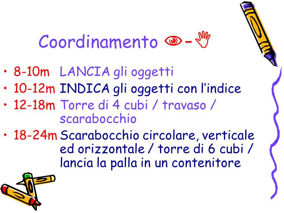 Coordinamento - 8-10m LANCIA gli oggetti
