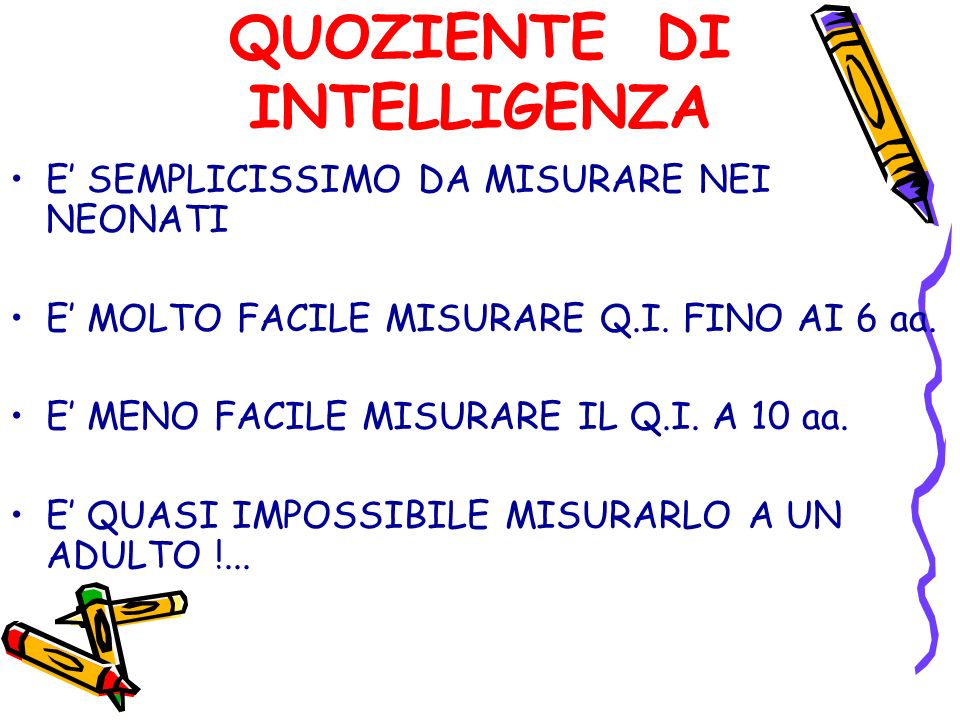 QUOZIENTE DI INTELLIGENZA