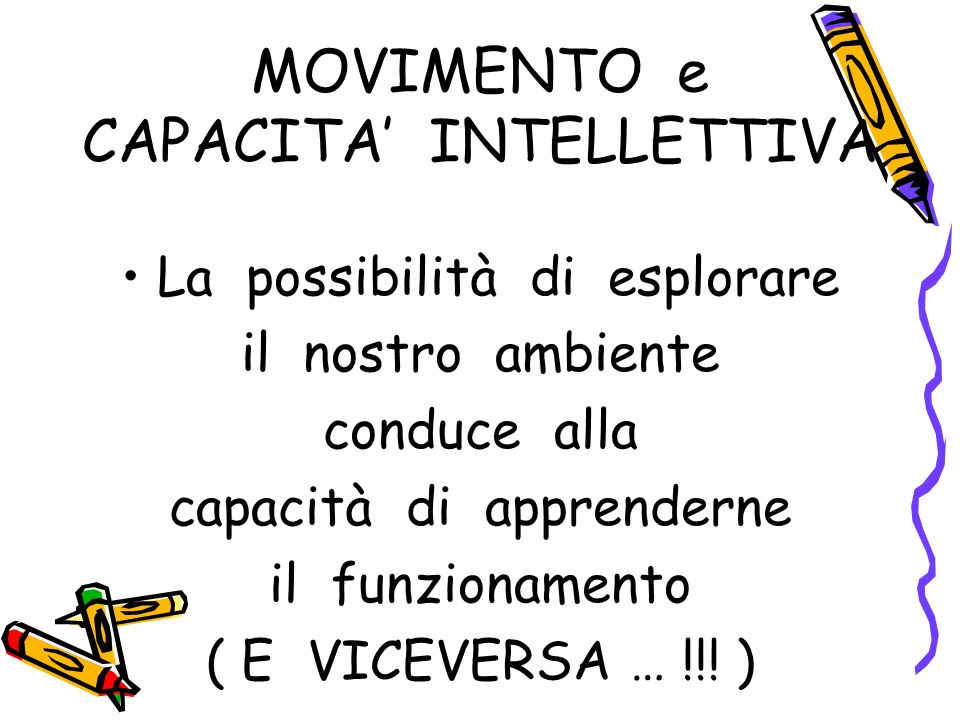 MOVIMENTO e CAPACITA' INTELLETTIVA