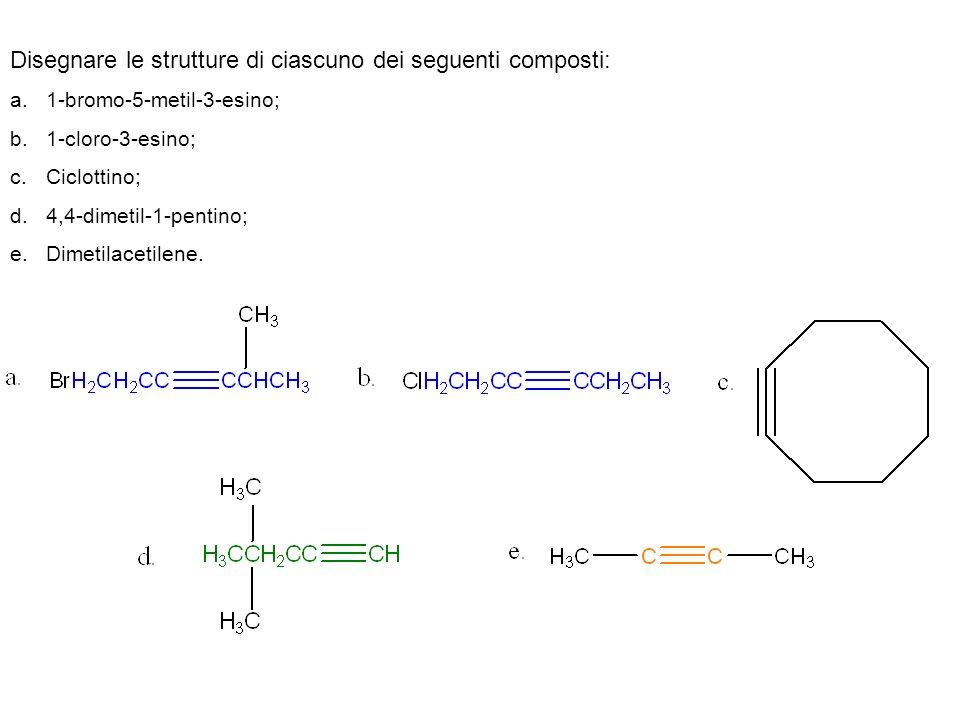 Disegnare le strutture di ciascuno dei seguenti composti: